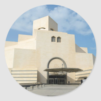 Museum of Islamic Arts, Qatar round sticker