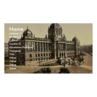 Museum, Prague, Bohemia, Austro-Hungary magnificen Pack Of Standard Business Cards