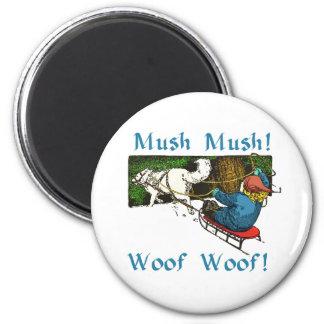 Mush Mush Woof Woof 6 Cm Round Magnet