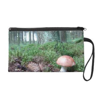 Mushrom in the Forrest Wristlet Purse