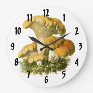 Mushroom 13 Print Large Clock