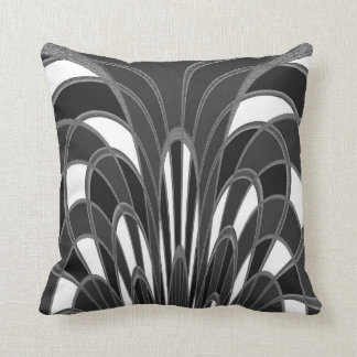 Mushroom Abstract - Art Deco - Gray Grey Cushion