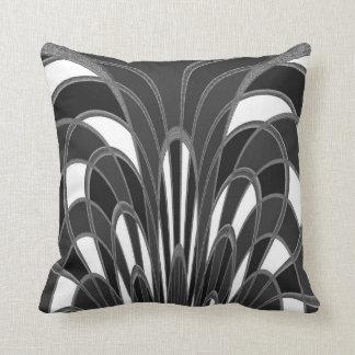 Mushroom Abstract - Art Deco Gray Grey Throw Cushions
