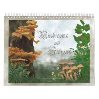 Mushroom and Flowers Wall Calendars