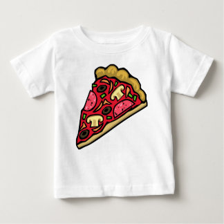 Mushroom and pepperoni pizza slice baby T-Shirt