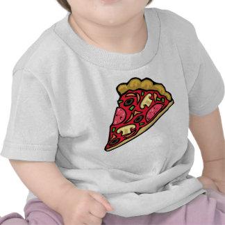 Mushroom and pepperoni pizza slice tshirts