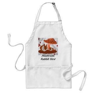 Mushroom and Rabbit Kids Gift Standard Apron