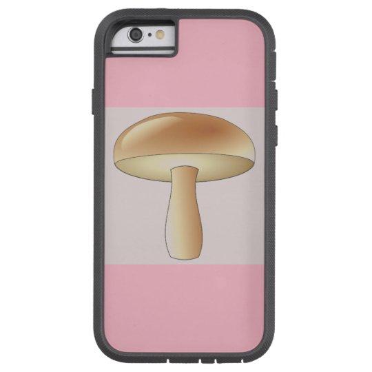 Mushroom Art Deco Chic Phone Case Pink Colour