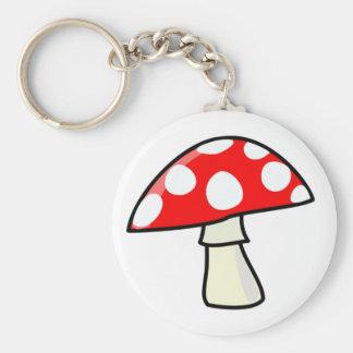 mushroom basic round button key ring