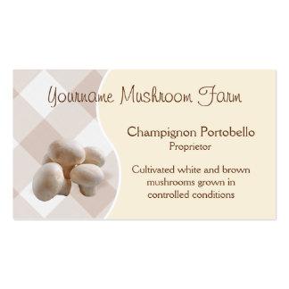 Mushroom business card