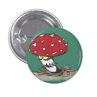 Mushroom Button Badge