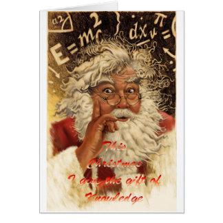 Mushroom Christmas Card