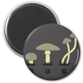 Mushroom Classification Design - GeekShirts Magnet
