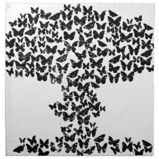 Mushroom Cloud of Butterflies Cloth Napkins