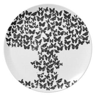 Mushroom Cloud of Butterflies Party Plates