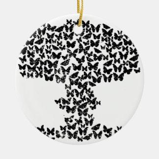 Mushroom Cloud of Butterflies Round Ceramic Decoration