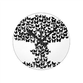 Mushroom Cloud of Butterflies Wall Clock
