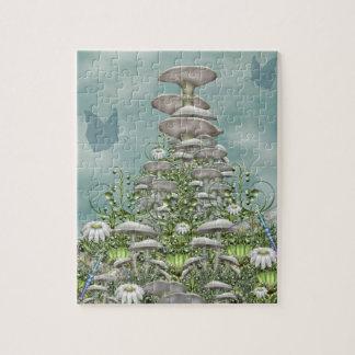 Mushroom Club - Daisies and mushrooms Jigsaw Puzzle