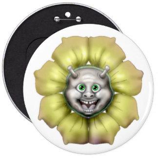 Mushroom Club flower emoji 6 Cm Round Badge
