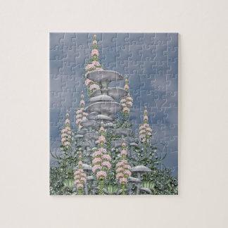 Mushroom Club - Pink flowers Jigsaw Puzzle