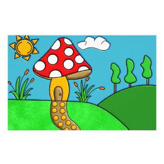 Mushroom Customized Stationery