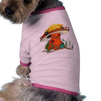 Mushroom Fairy House Ringer Dog Shirt