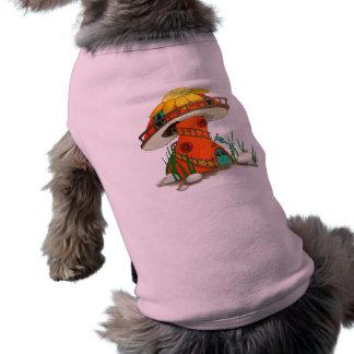 Mushroom Fairy House Sleeveless Dog Shirt