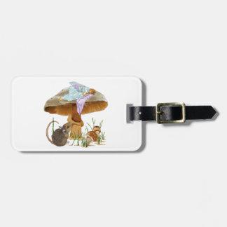 Mushroom Fairy Luggage Tag