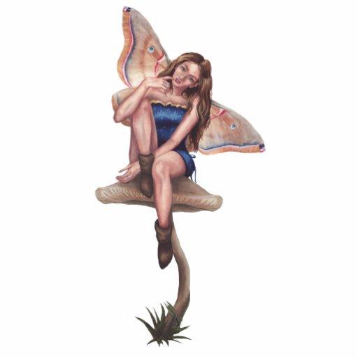 Mushroom Fairy Photo Sculpture Faerie Sculpture