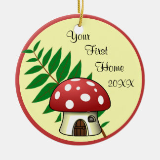 Mushroom First Home Ornament