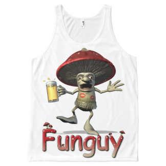 Mushroom Funguy All-Over Print Tank Top
