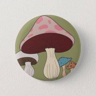 Mushroom Grouping 6 Cm Round Badge