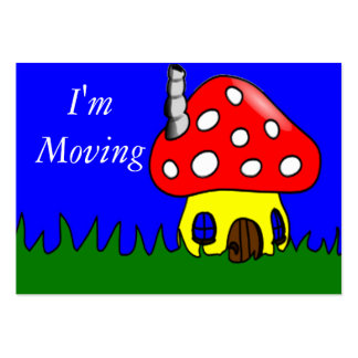 Mushroom House Change of Address Card Business Cards