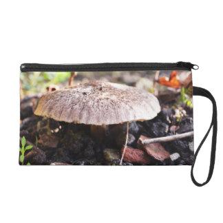 Mushroom in Forrest Wristlet Purses