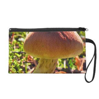 Mushroom in the Forrest Wristlet Purses