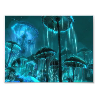 Mushroom Jellyfish Photo Print