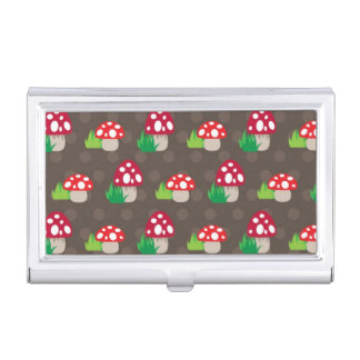mushroom kids pattern business card holder