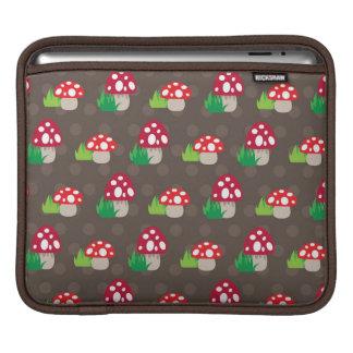 mushroom kids pattern iPad sleeve