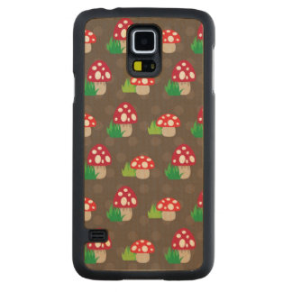 mushroom kids pattern maple galaxy s5 case