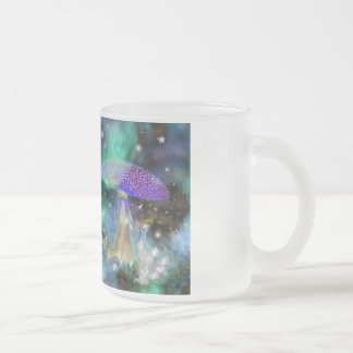Mushroom Lady and the Jack Rabbit! Frosted Glass Mug