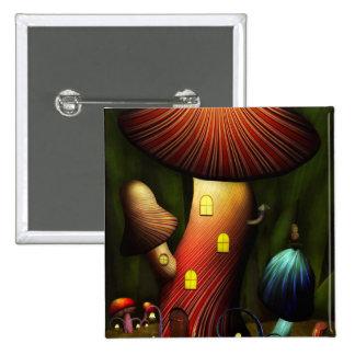 Mushroom - Magic Mushroom 15 Cm Square Badge