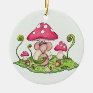 Mushroom Mouse Ornament