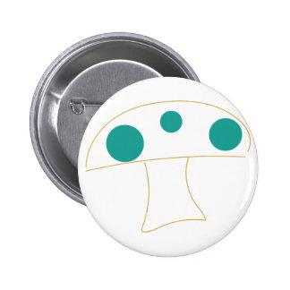 Mushroom Outline 6 Cm Round Badge