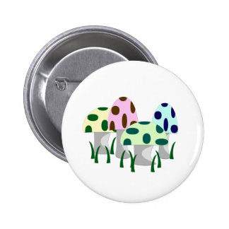 Mushroom Patch 6 Cm Round Badge