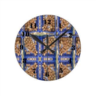 mushroom pattern round clock