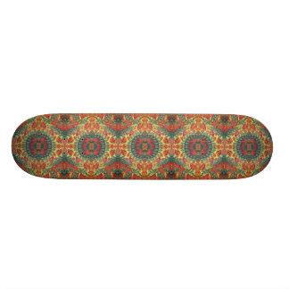 mushroom pattern skateboard