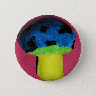 Mushroom red 6 cm round badge