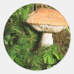 Mushroom Round Stickers