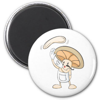 Mushroom Shirts - Mushroom Chef Baker Dough Magnet