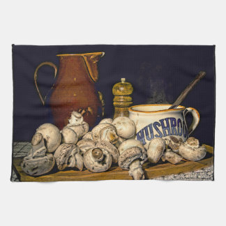 Mushroom Soup Kitchen Still Life Tea Towel